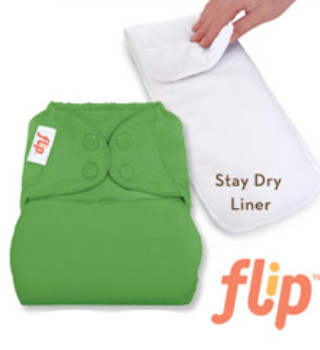 Flip one size diaper system