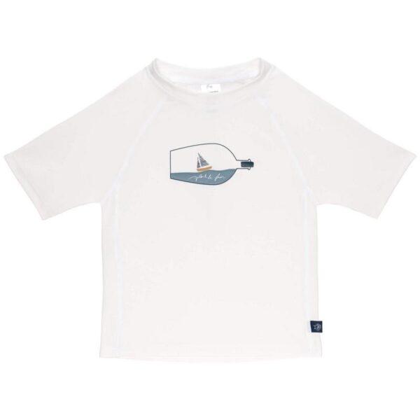 Lässig UV-shirt Ship in a bottle wit